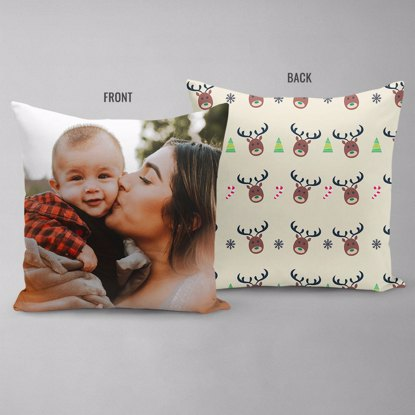 Happy Reindeer Double Sided Pillow
