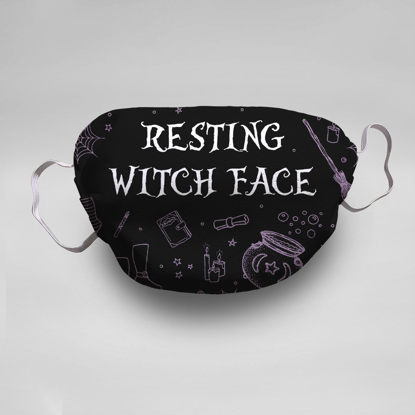 Resting Witch Face Face Mask