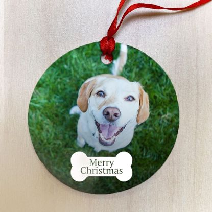 Picture of Merry Christmas Dog Bone Ceramic Ornament
