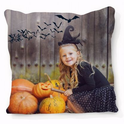 Picture of Halloween Bat Pillow with Custom Image