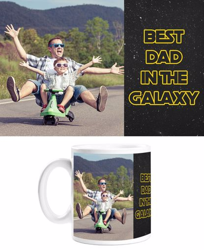 Picture of Best Dad in the Galaxy Mug with Custom Image