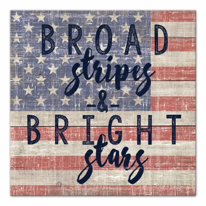 Picture of Broad Stripes Bright Stars 14x14 Canvas Wall Art