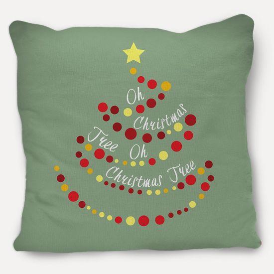 Christmas Tree Pillow with Oh Christmas Tree Lyrics   CanvasPeople