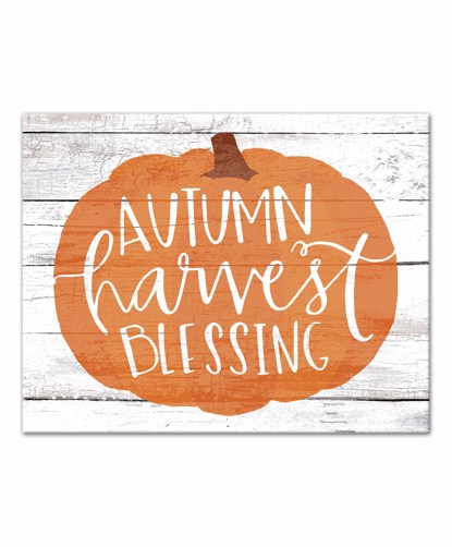 Picture of Autumn Harvest Blessing 11x14 Canvas Wall Art