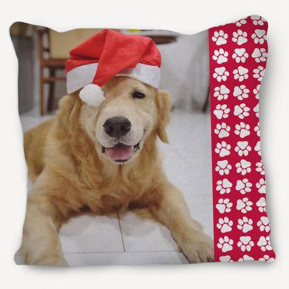 Picture of Holiday Paw Prints Pillow
