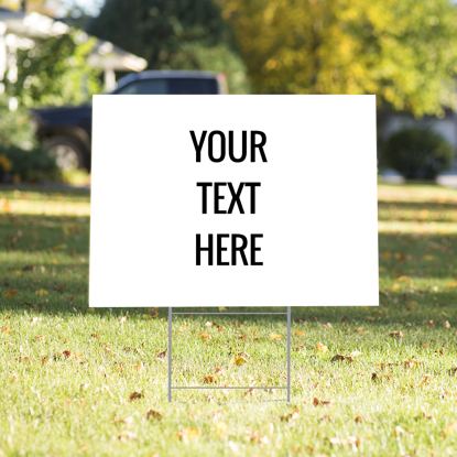 Picture of Custom Text Yard Sign