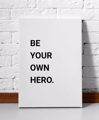 Picture of Be Your Own Hero Canvas-11x14
