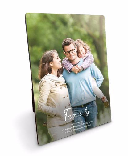 Picture of Definition of Family Plaque with Personalized Image