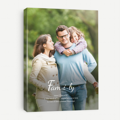 Definition of Family Canvas Print