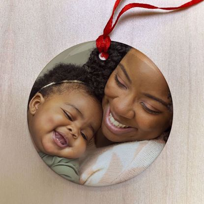 Picture of Personalized Ceramic Ornament with Custom Image