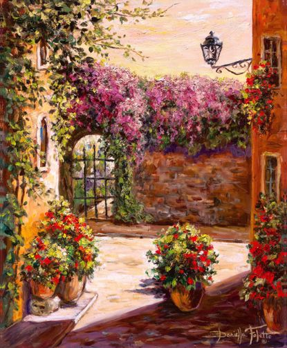 Picture of Wisteria Gate Canvas