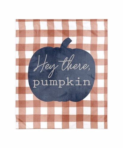 Picture of Hey There Pumpkin Navy Blanket