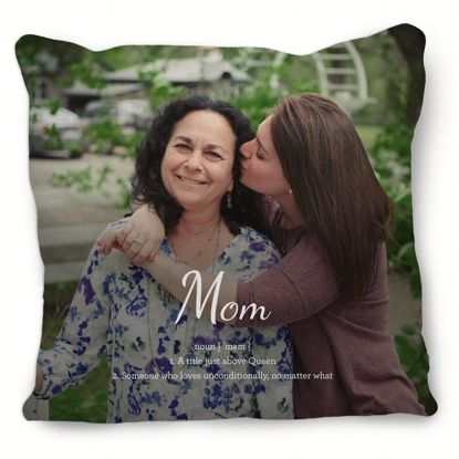 Picture of Definition of Mom Pillow with Custom Image