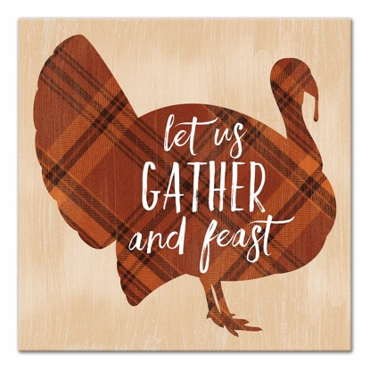 Picture of Let Us Gather and Feast 14x14 Canvas Wall Art