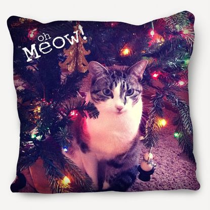 Picture of Meow Pillow with Custom Cat Image