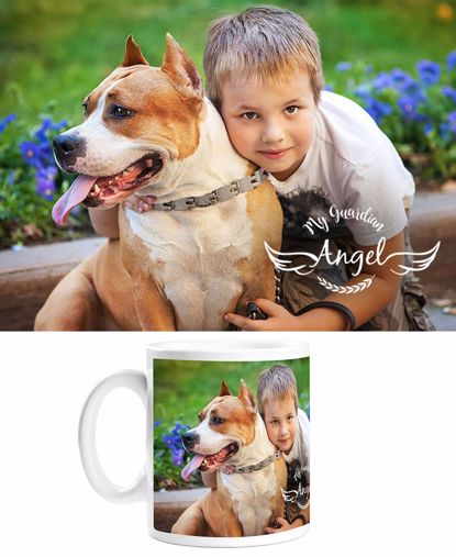 Picture of Guardian Angel Mug with Custom Image