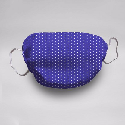 Indigo Polka Dots Face Mask