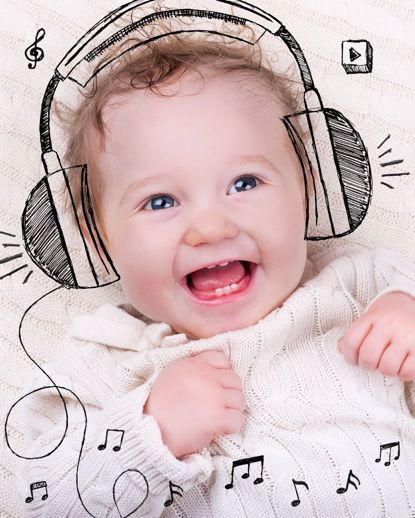 Picture of Baby Doodle Canvas - Music