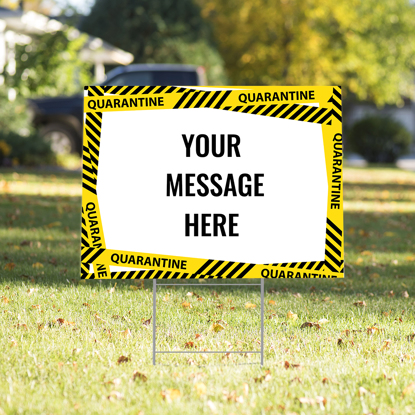 Personalized Quarantine Yard Sign