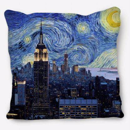 Picture of Starry Night New York Pillow