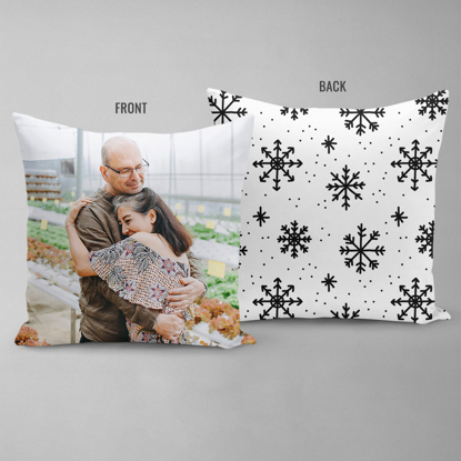 Snowflakes Double Sided Pillow