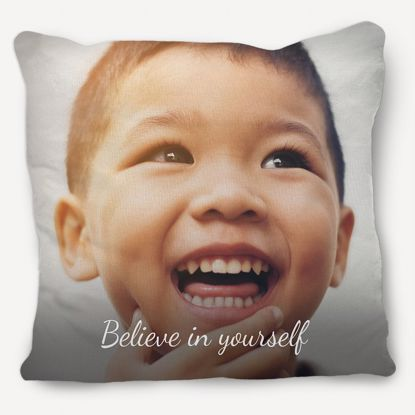 Picture of Believe in Yourself Pillow with Custom Image