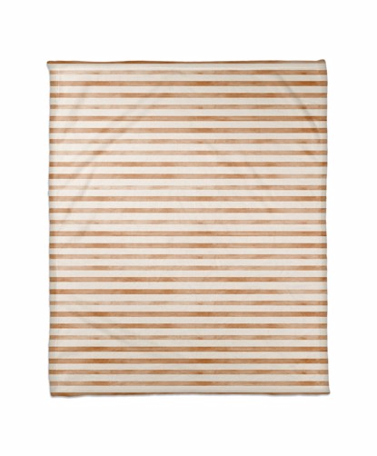 Picture of Dark Orange Ochre Watercolor Stripes Blanket