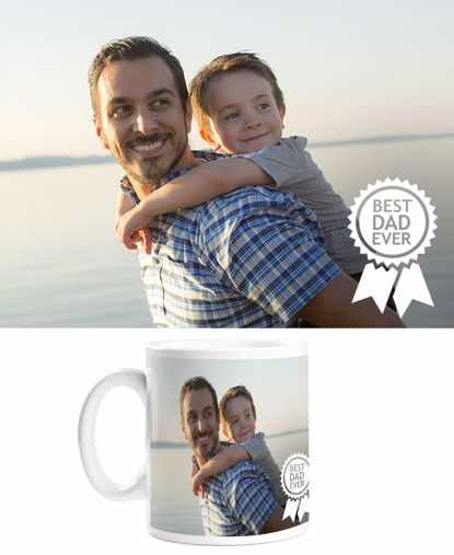 Picture of Custom Best Dad Ever Mug with Personalized Image