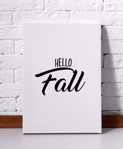 Picture of Hello Fall Canvas
