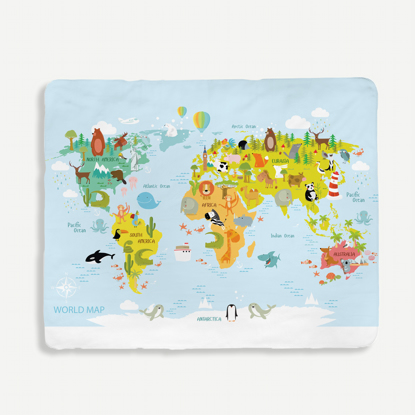 Kids Map Blanket