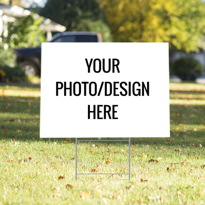 Picture of Custom Photo Upload Yard Sign