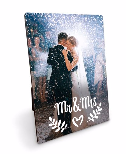 Picture of Custom Mr. and Mrs. Plaque with Personalized Image