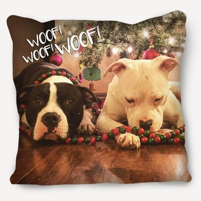 Picture of Woof Dog Pillow with Custom Image