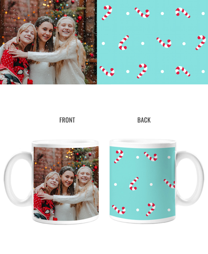 Candy Canes Double Sided Mug