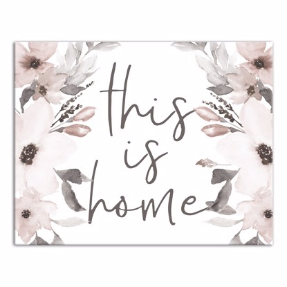 Picture of This Is Home Florals 11x14 Canvas Wall Art