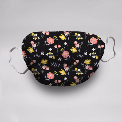 Black Floral Face Mask