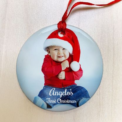 Picture of Personalized First Christmas Ceramic Ornament