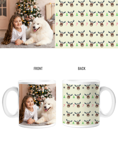 Happy Reindeer Double Sided Mug