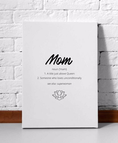 Picture of Mom Definition Canvas