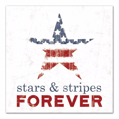 Picture of Stars and Stripes Forever 14x14 Canvas Wall Art