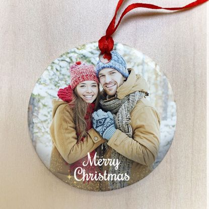 Picture of Merry Christmas Ceramic Ornament