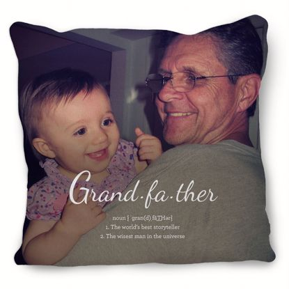 Picture of Definition of Grandfather Pillow with Custom Image