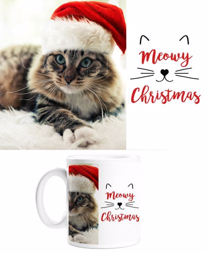 Picture of Meowy Christmas Mug with Custom Image