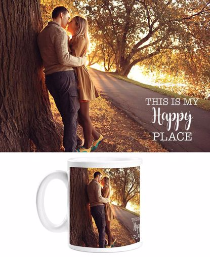 Picture of Happy Place Mug with Custom Image