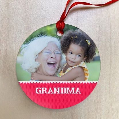 Picture of Grandma Ugly Christmas Sweater Ceramic Ornament
