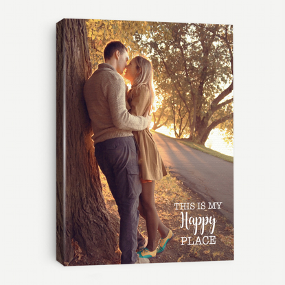 Picture of This is My Happy Place Canvas with Custom Image - 11x14