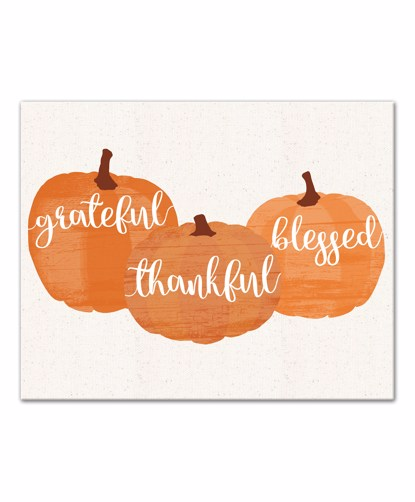 Picture of Grateful Thankful Blessed 16x20 Canvas Wall Art