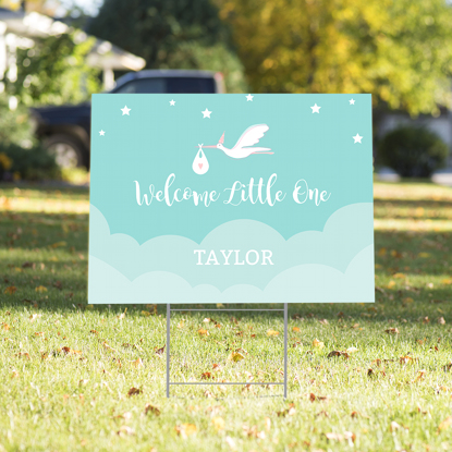 Picture of Welcome Little One Yard Sign - Green