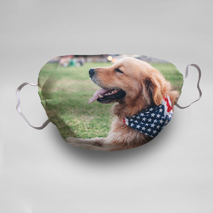 Picture of Golden Retriever Face Masks