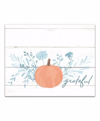Picture of Grateful Pumpkin 16x20 Canvas Wall Art